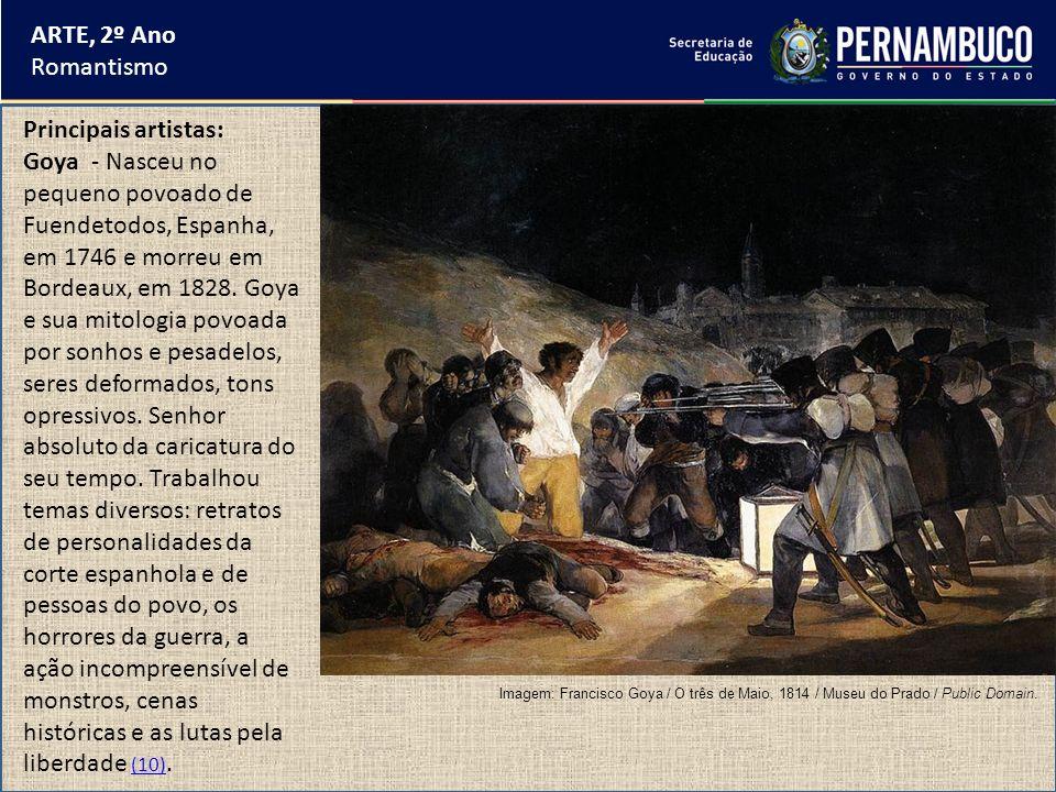 ARTE, 2º Ano Romantismo Principais artistas: