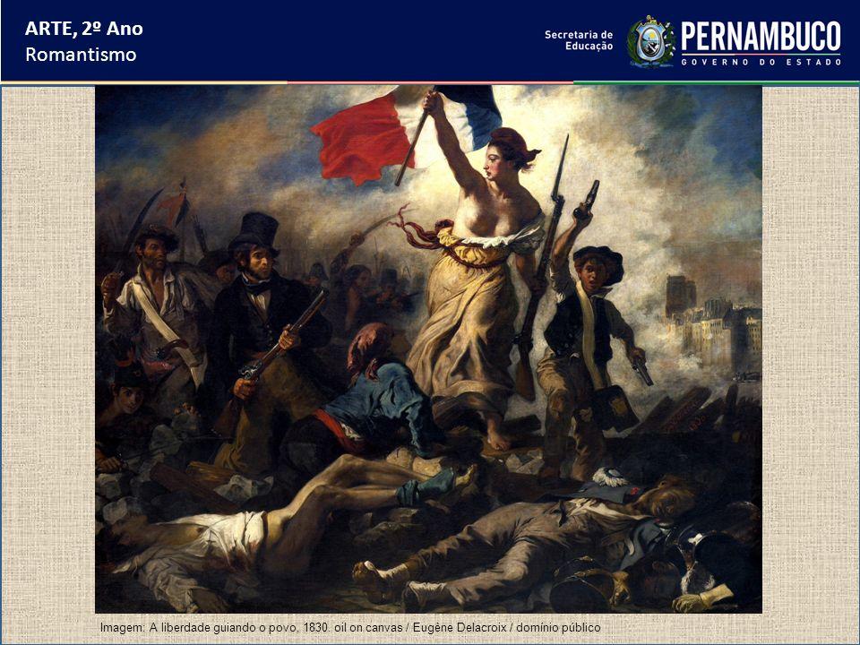 ARTE, 2º Ano Romantismo. Imagem: A liberdade guiando o povo, 1830.