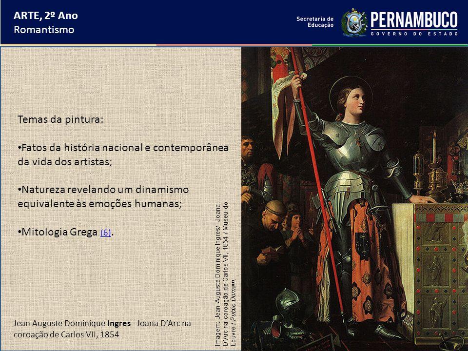 Fatos da história nacional e contemporânea da vida dos artistas;