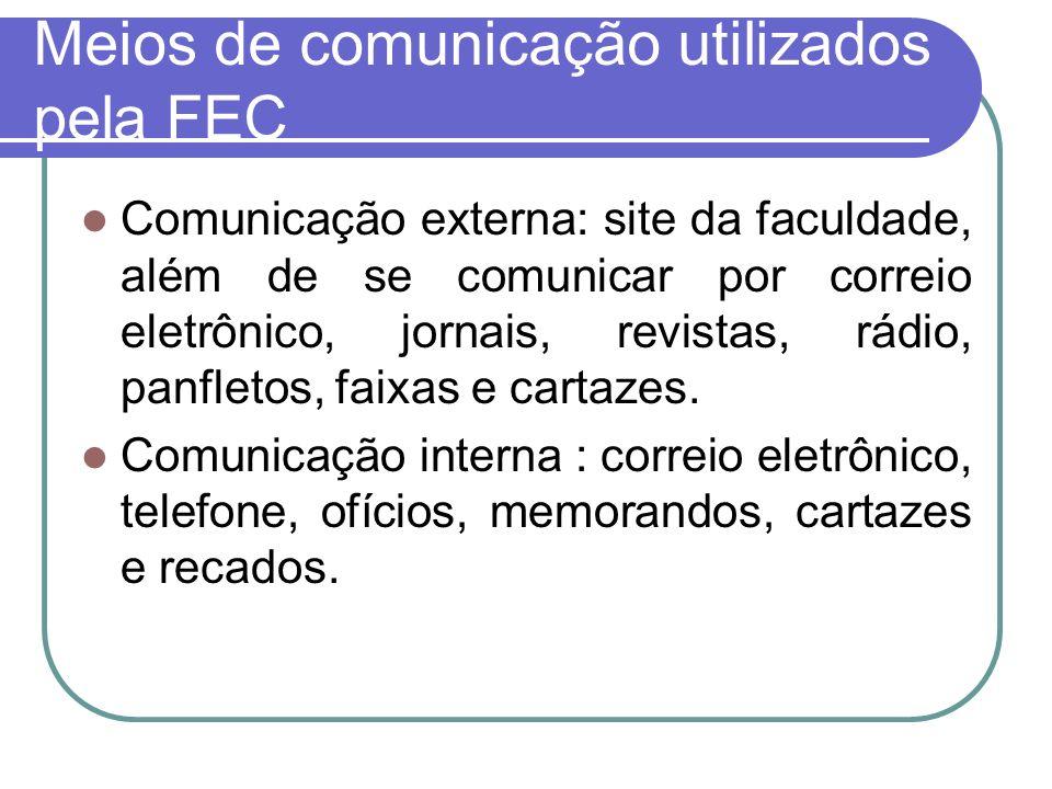 Meios de comunicação utilizados pela FEC