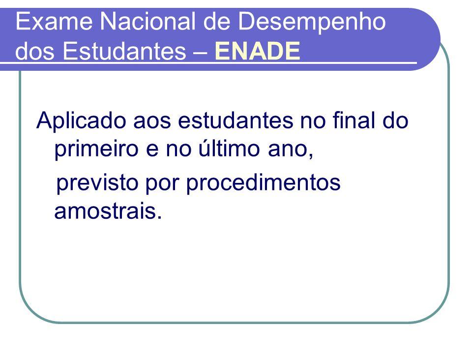 Exame Nacional de Desempenho dos Estudantes – ENADE