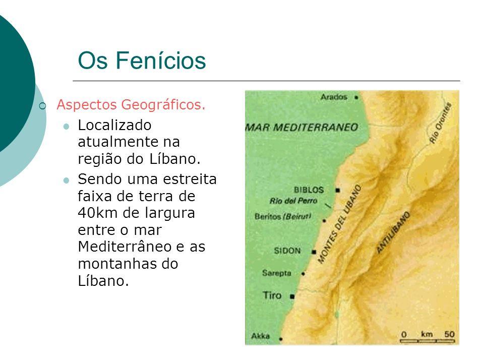 Os Fenícios Localizado atualmente na região do Líbano.
