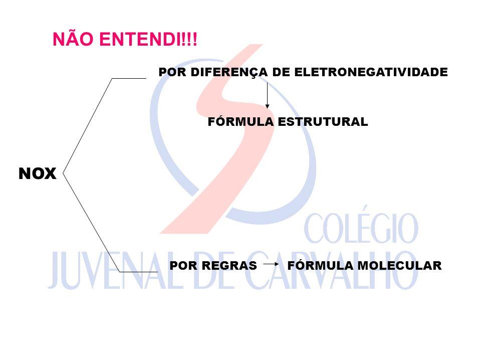 NÃO ENTENDI!!! NOX POR DIFERENÇA DE ELETRONEGATIVIDADE