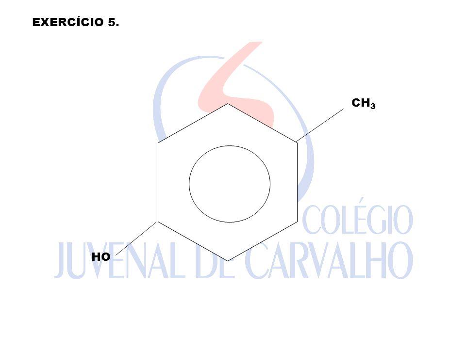 EXERCÍCIO 5. CH3 HO