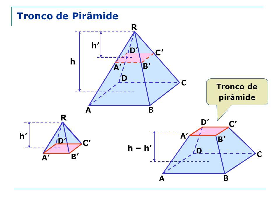 Tronco de Pirâmide R h' C' h R C' h' C' h – h' D' A' B' D C