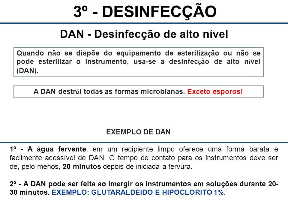 DAN - Desinfecção de alto nível
