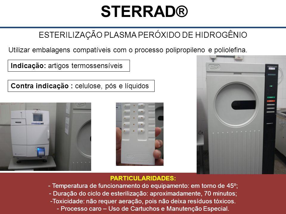 ESTERILIZAÇÃO PLASMA PERÓXIDO DE HIDROGÊNIO