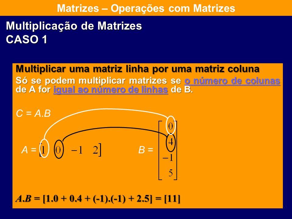 Multiplicação de Matrizes CASO 1