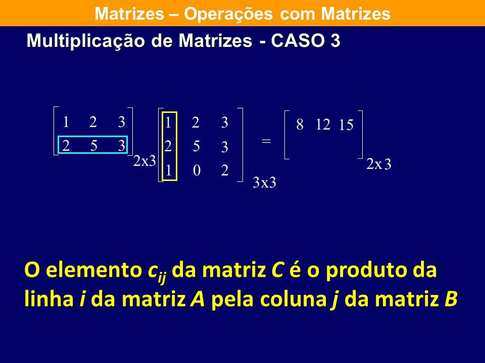 Multiplicação de Matrizes - CASO 3