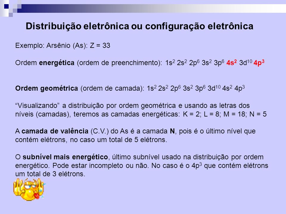 Distribuição eletrônica ou configuração eletrônica