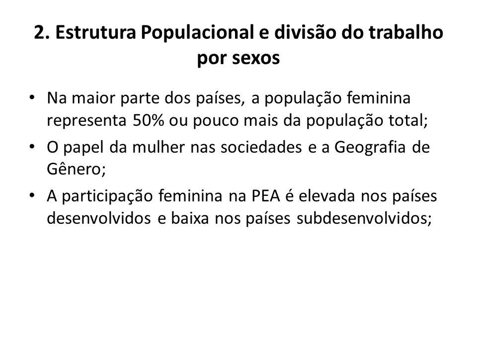 2. Estrutura Populacional e divisão do trabalho por sexos