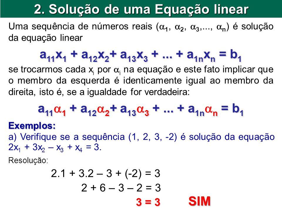 2. Solução de uma Equação linear