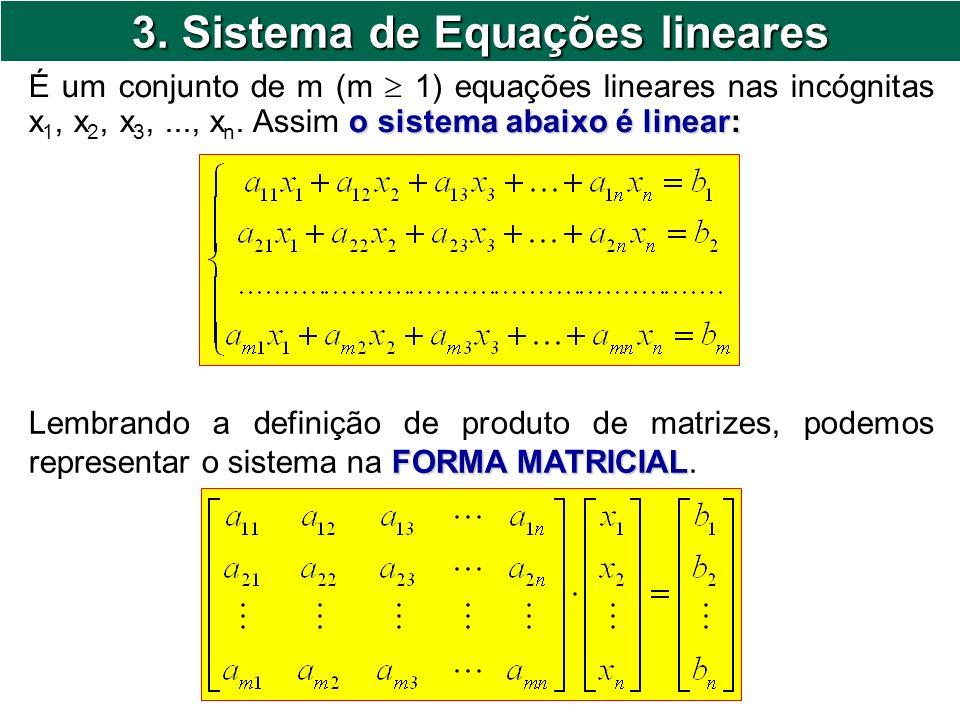 3. Sistema de Equações lineares