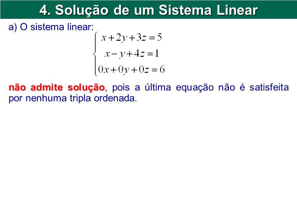 4. Solução de um Sistema Linear