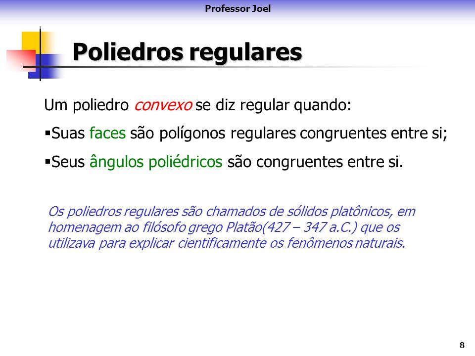 Poliedros regulares Um poliedro convexo se diz regular quando: