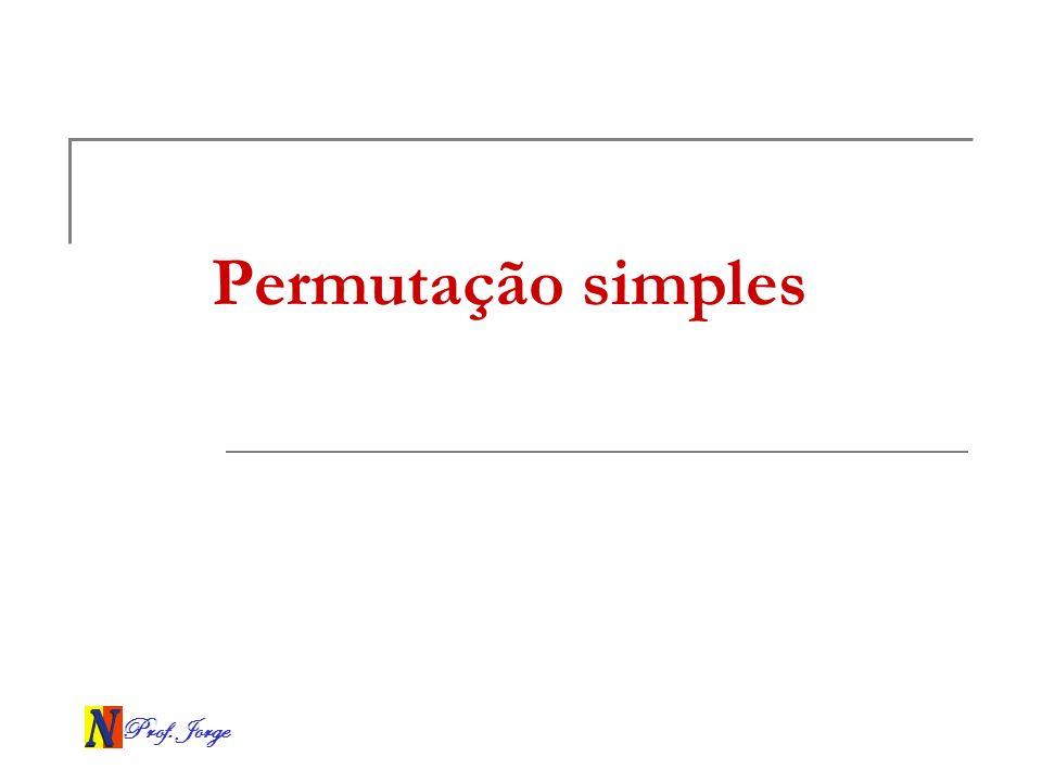 Permutação simples Prof. Jorge