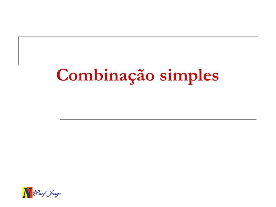 Combinação simples Prof. Jorge