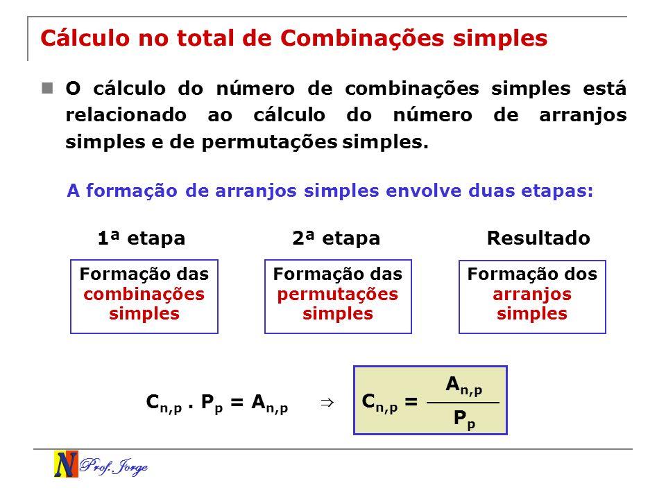 Cálculo no total de Combinações simples