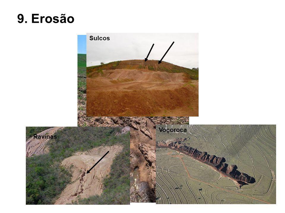 9. Erosão Sulcos Voçoroca Ravinas