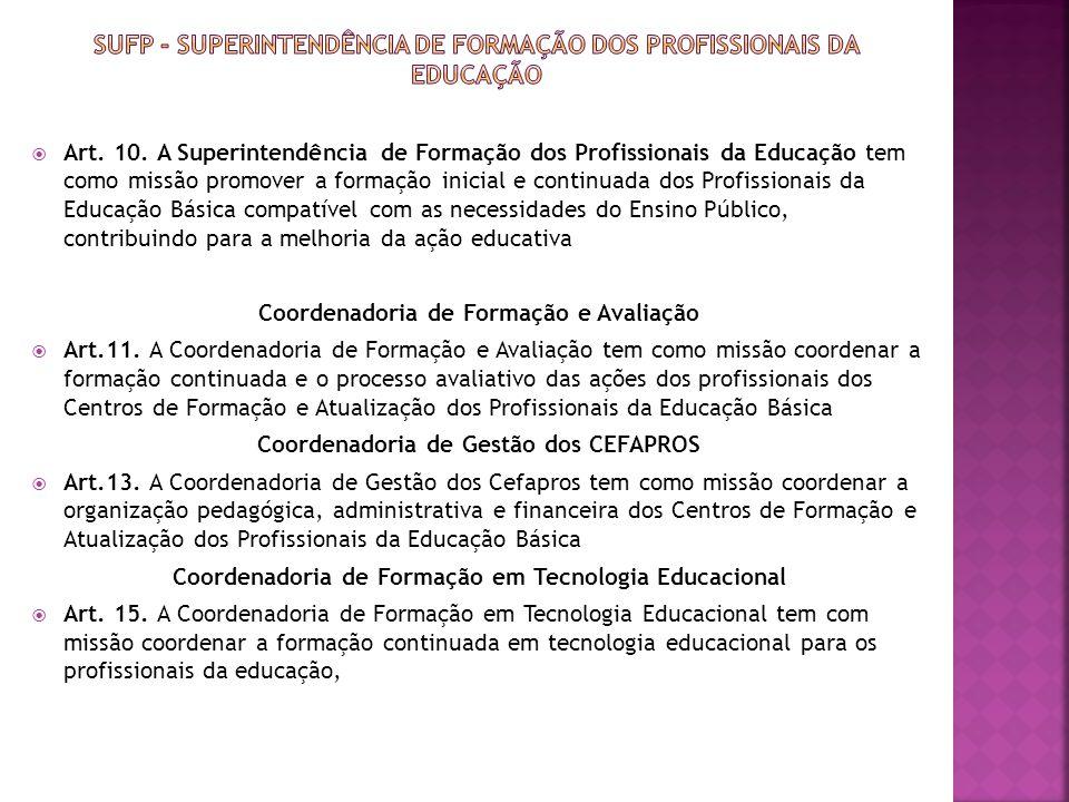 Sufp - Superintendência de Formação dos Profissionais da Educação