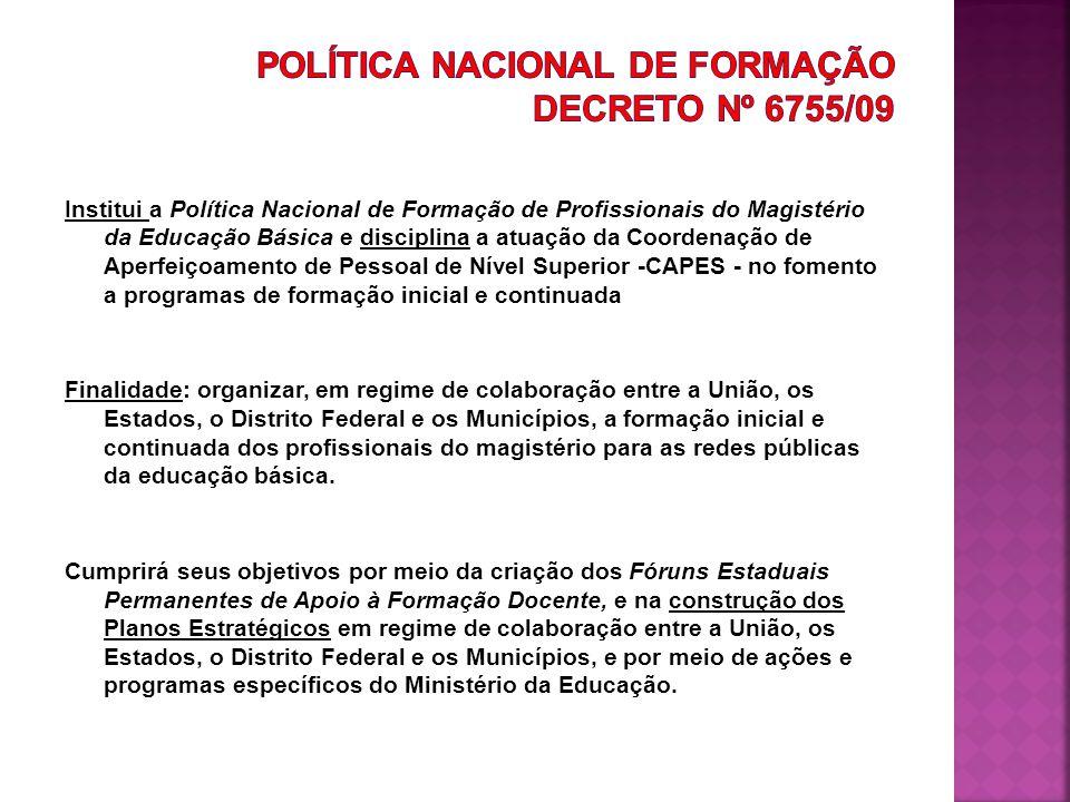 Política Nacional de Formação Decreto Nº 6755/09