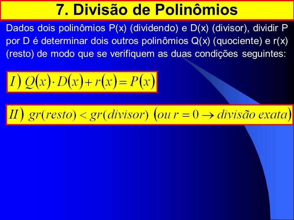 7. Divisão de Polinômios