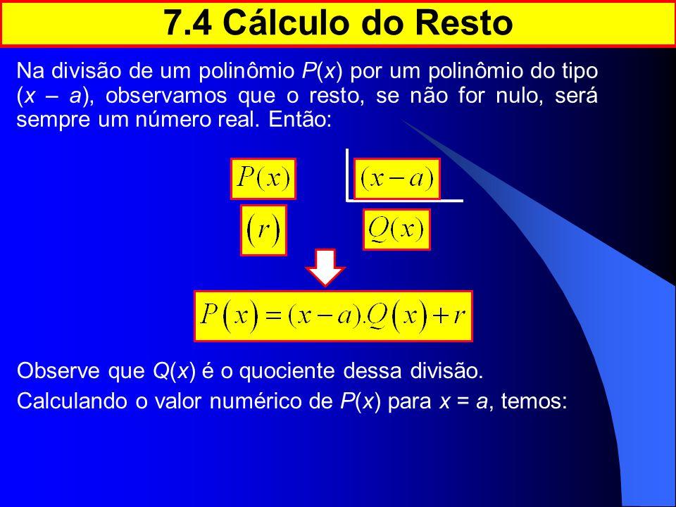 7.4 Cálculo do Resto