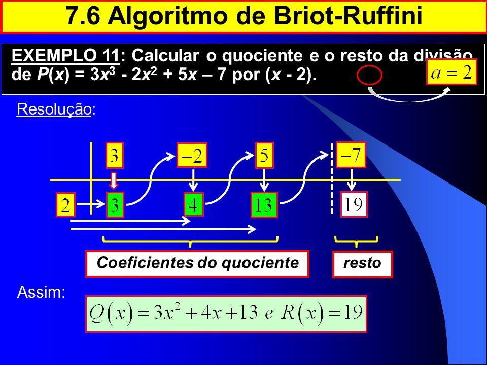 7.6 Algoritmo de Briot-Ruffini