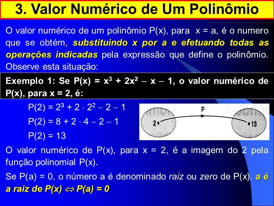3. Valor Numérico de Um Polinômio