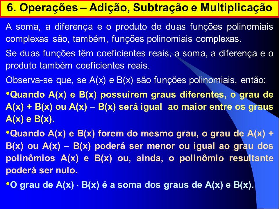 6. Operações – Adição, Subtração e Multiplicação