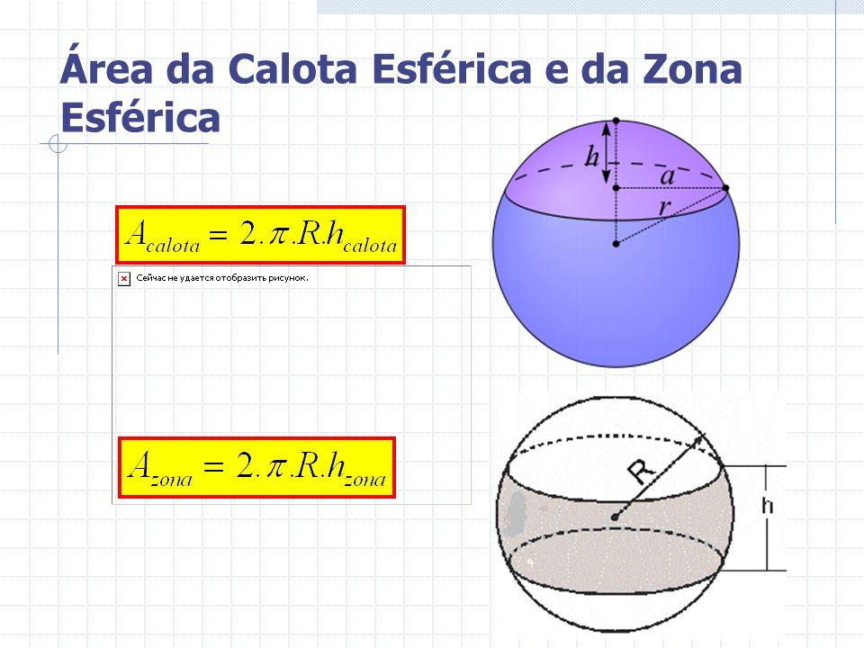 Área da Calota Esférica e da Zona Esférica