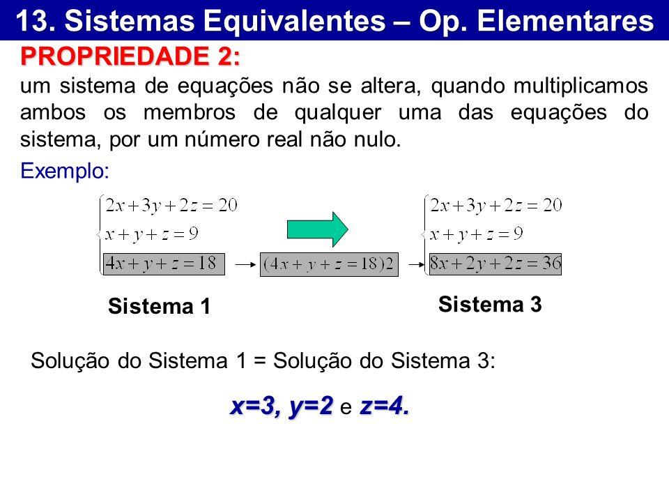 13. Sistemas Equivalentes – Op. Elementares
