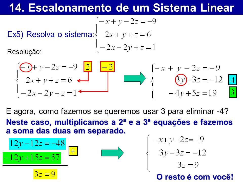 14. Escalonamento de um Sistema Linear