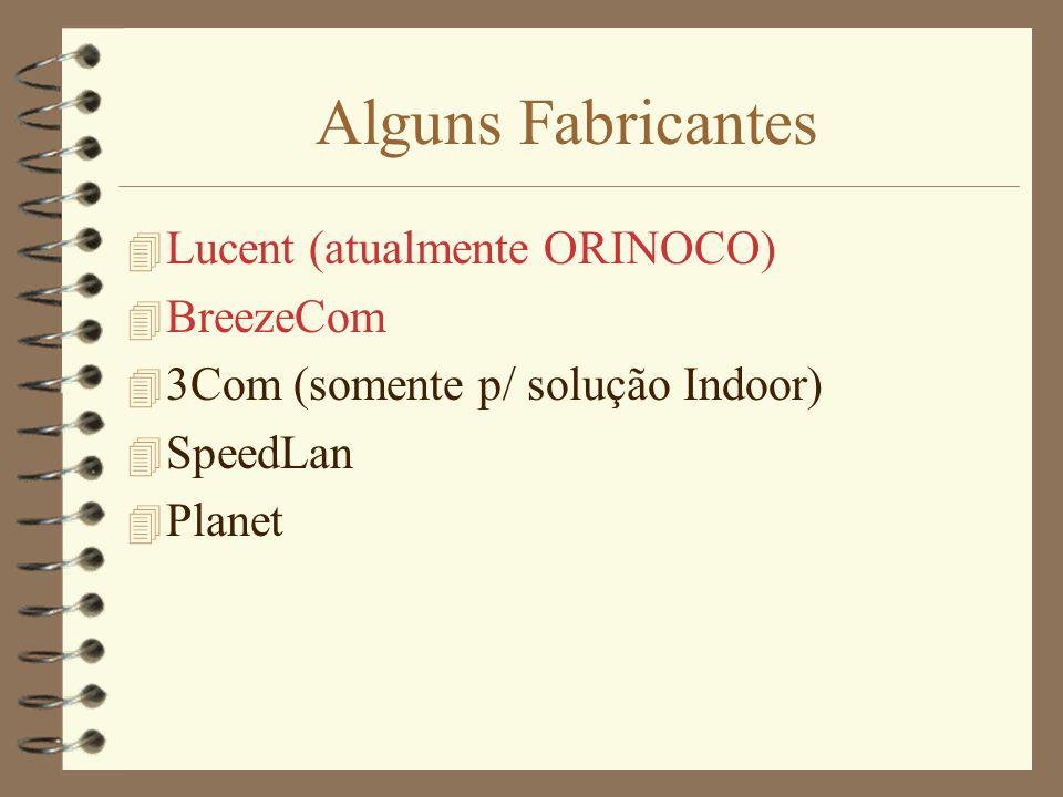 Alguns Fabricantes Lucent (atualmente ORINOCO) BreezeCom