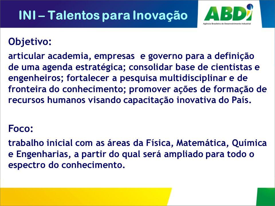 INI – Talentos para Inovação
