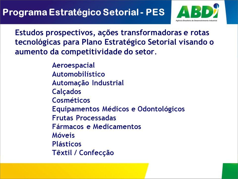 Programa Estratégico Setorial - PES