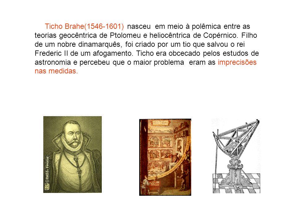 Ticho Brahe(1546-1601) nasceu em meio à polêmica entre as teorias geocêntrica de Ptolomeu e heliocêntrica de Copérnico.