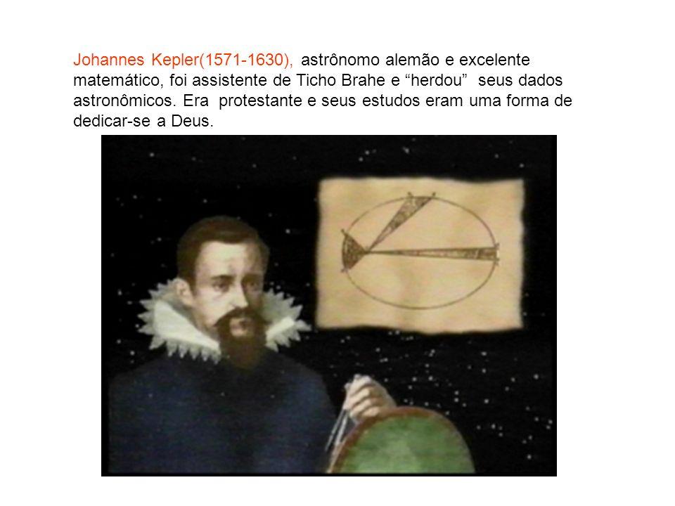 Johannes Kepler(1571-1630), astrônomo alemão e excelente matemático, foi assistente de Ticho Brahe e herdou seus dados astronômicos.