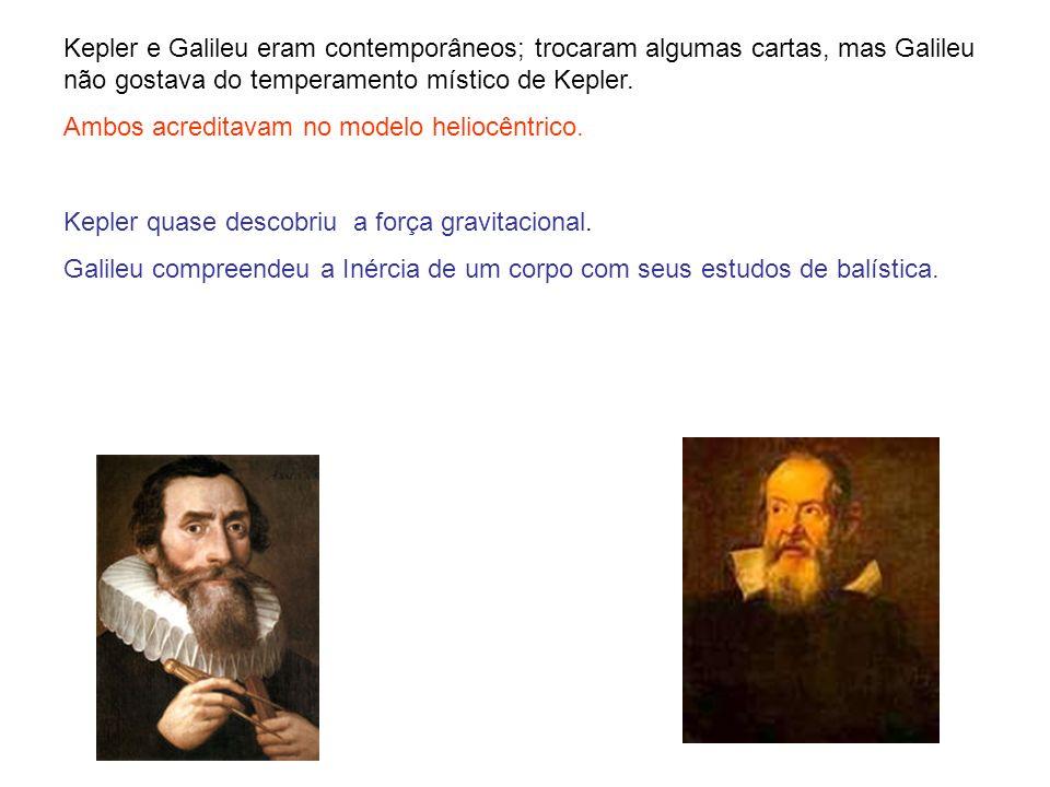 Kepler e Galileu eram contemporâneos; trocaram algumas cartas, mas Galileu não gostava do temperamento místico de Kepler.