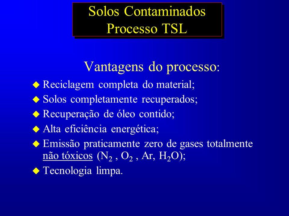 Solos Contaminados Processo TSL