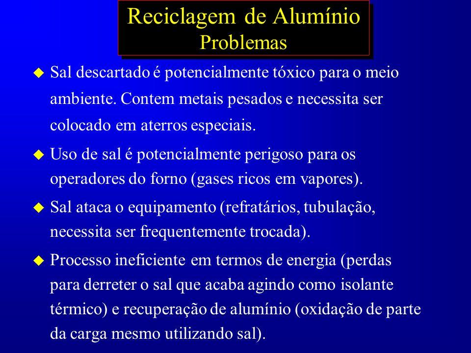 Reciclagem de Alumínio Problemas