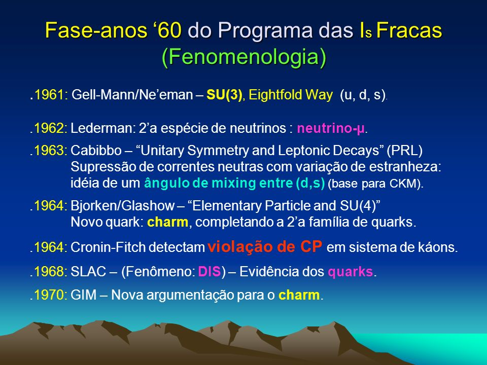 Fase-anos '60 do Programa das Is Fracas (Fenomenologia)