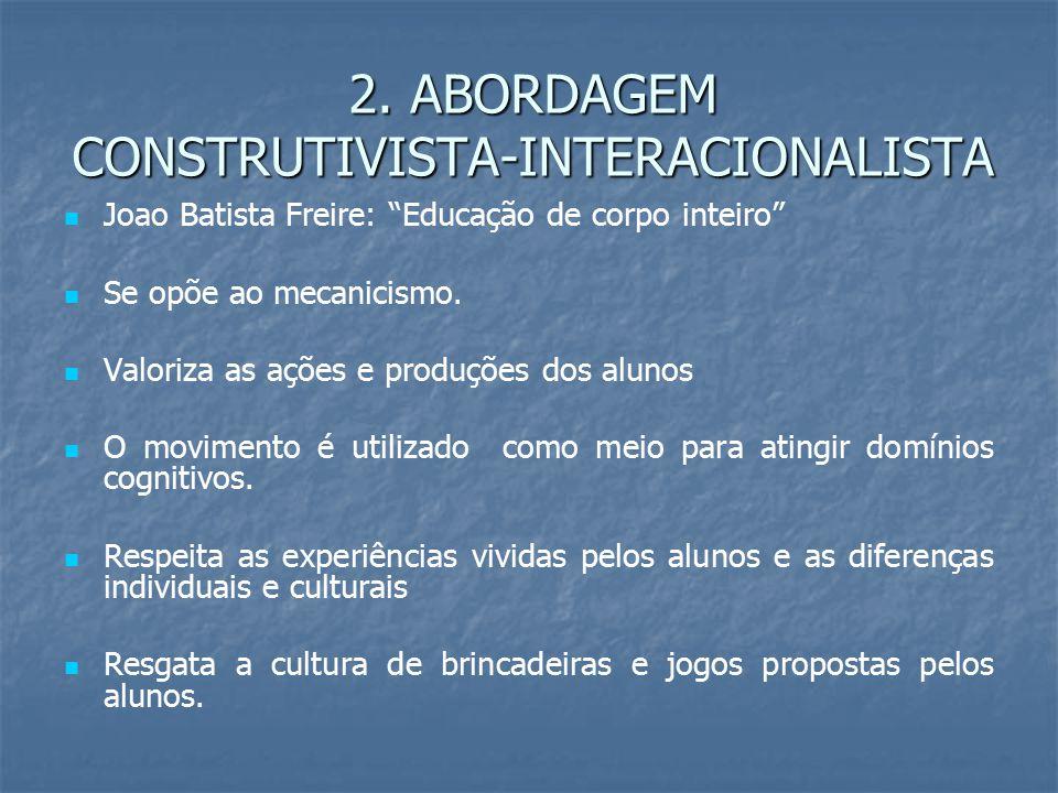 2. ABORDAGEM CONSTRUTIVISTA-INTERACIONALISTA