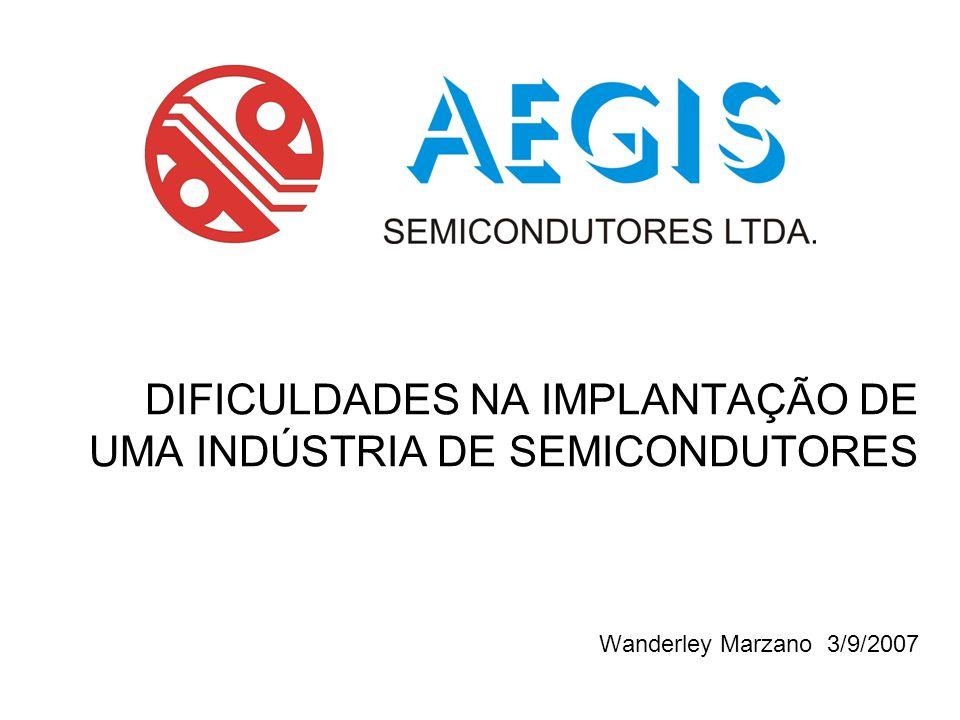 DIFICULDADES NA IMPLANTAÇÃO DE UMA INDÚSTRIA DE SEMICONDUTORES Wanderley Marzano 3/9/2007