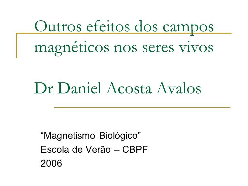 Magnetismo Biológico Escola de Verão – CBPF 2006