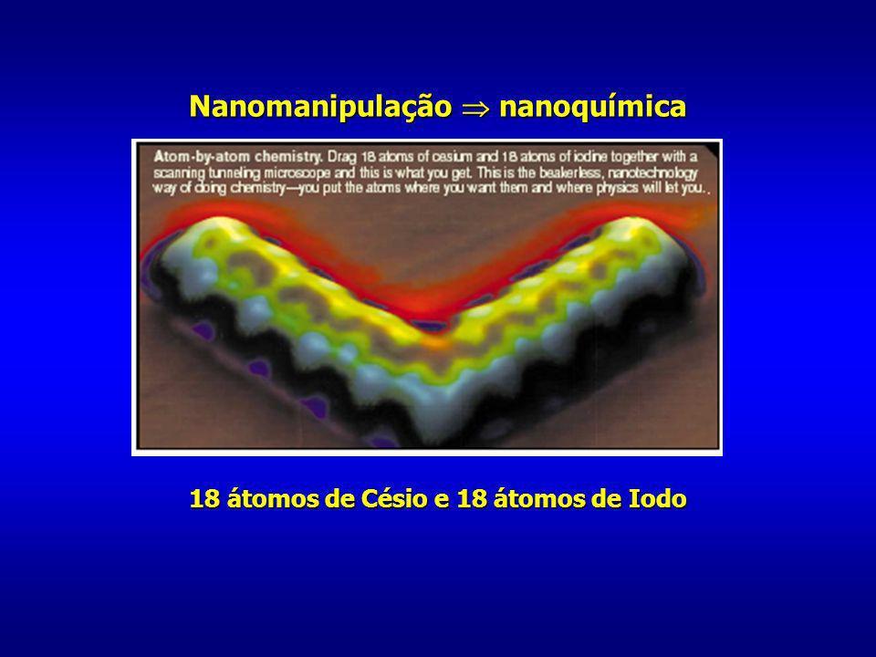18 átomos de Césio e 18 átomos de Iodo