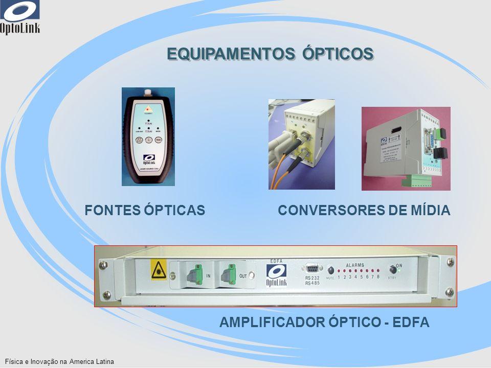 EQUIPAMENTOS ÓPTICOS FONTES ÓPTICAS CONVERSORES DE MÍDIA