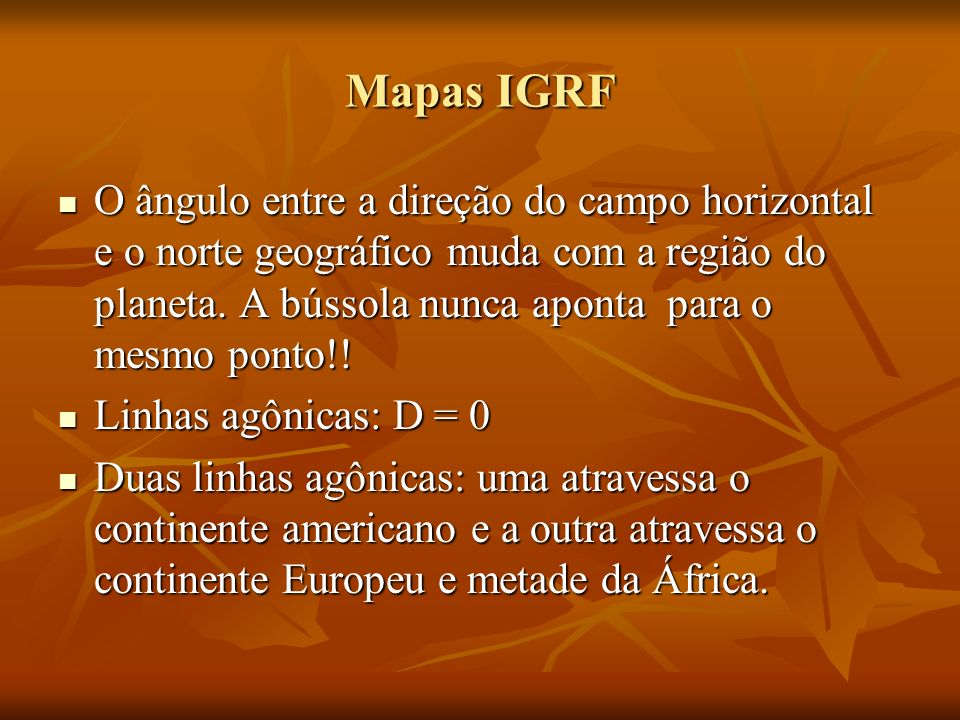Mapas IGRF