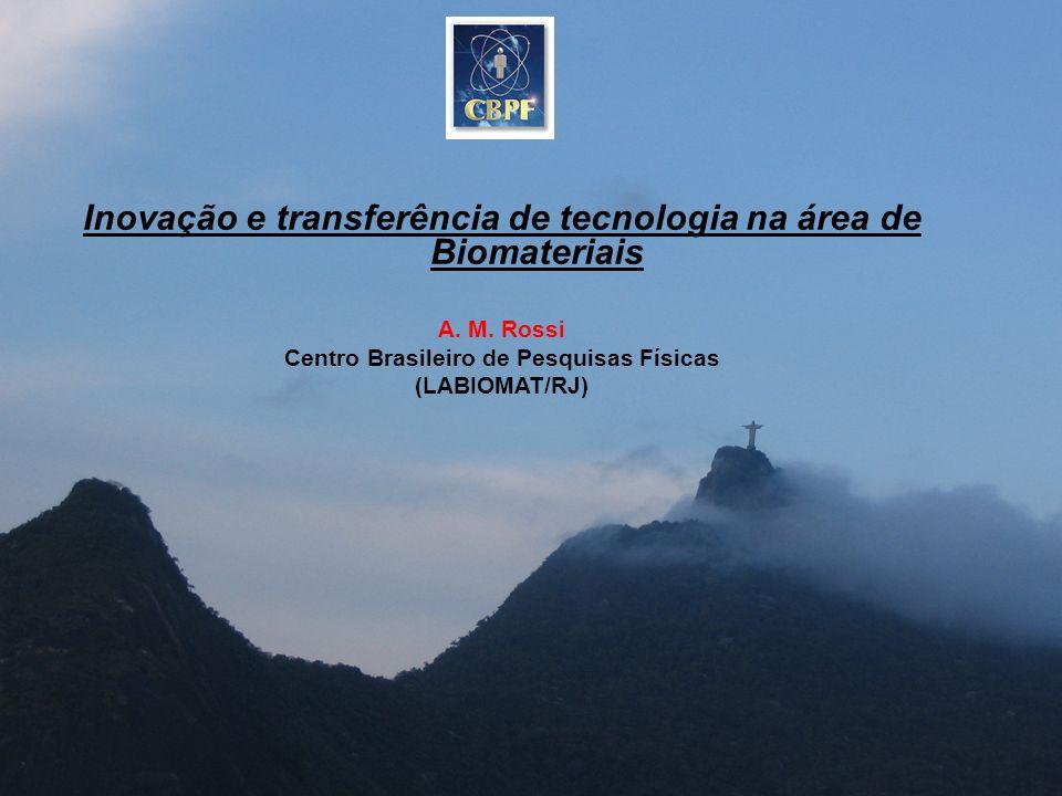 Inovação e transferência de tecnologia na área de Biomateriais