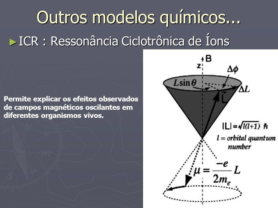 Outros modelos químicos...